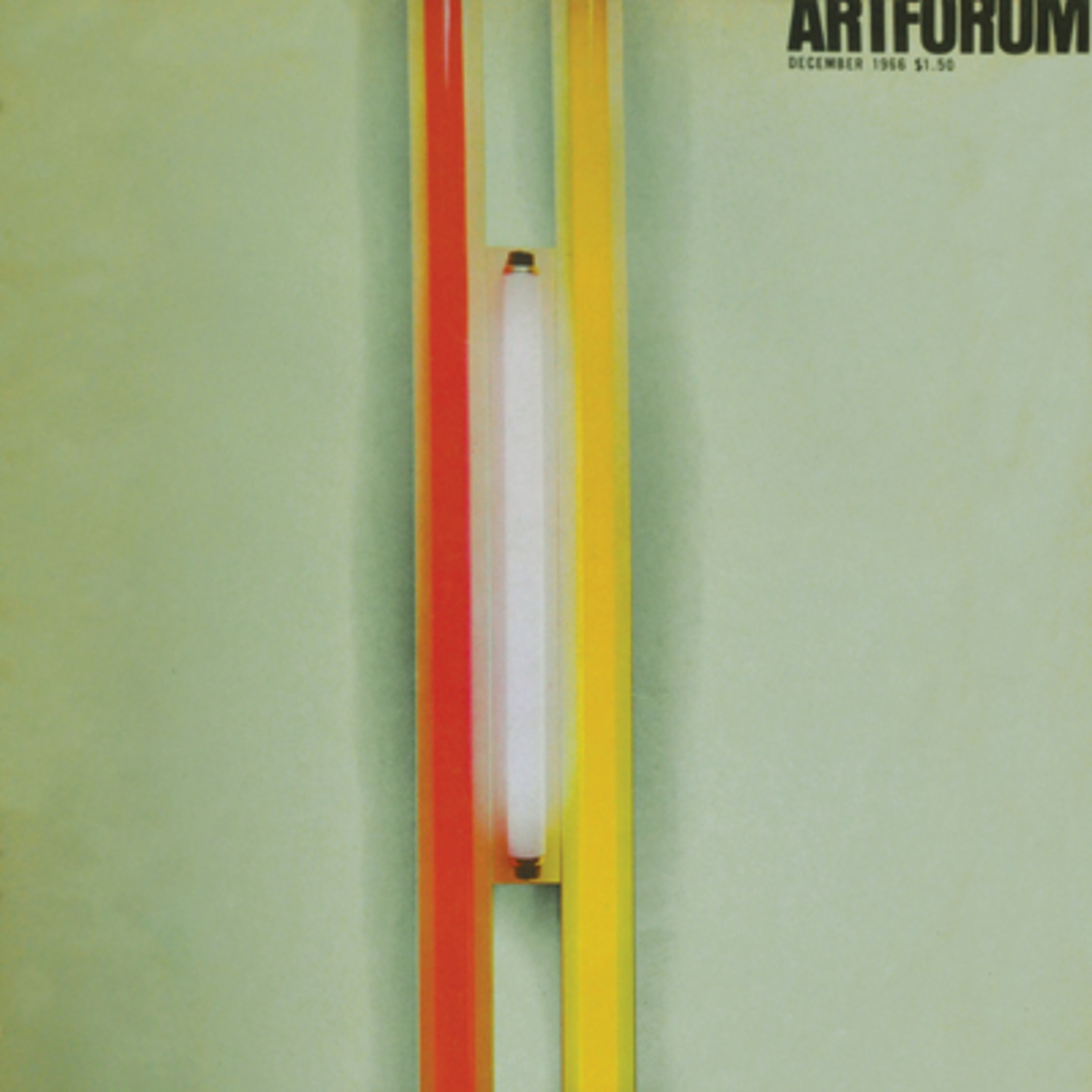 "Dan Flavin, Puerto Rican Light, 4' x 8½"" x 3¾"", 1965. (L.M. Asher Family Collection. Color Courtesy Nicholas Wilder Gallery, Los Angeles & Kornblee Gallery, New York.)"