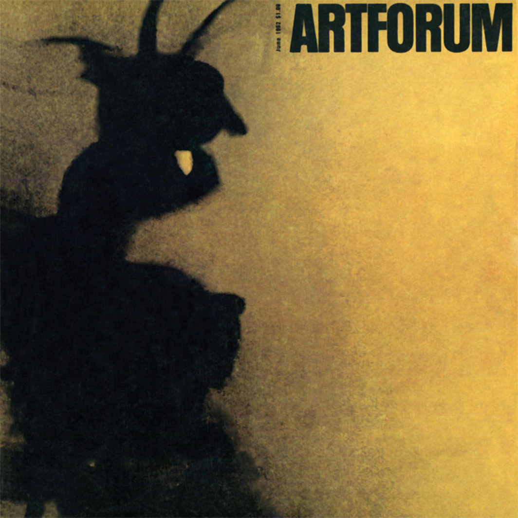 Cover of Artforum 1, no. 1 (June 1962). Shown: Jean Tinguely, L'Araignée (also known as Marokko and Krapotkin), 1961.