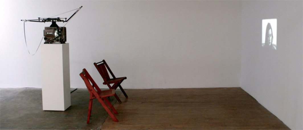 Manon de Boer, Attica, 2008, 16 mm, black-and-white, 9 minutes 55 seconds. Installation view, Lunds Konsthall, Lund, Sweden, 2009.