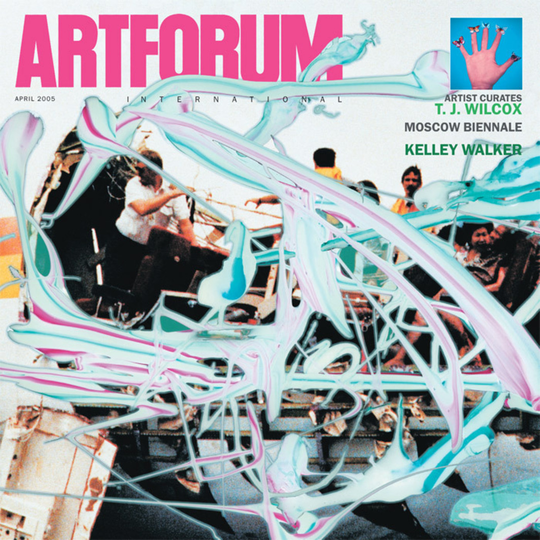 Cover of Artforum 43, no. 8 (April 2005).