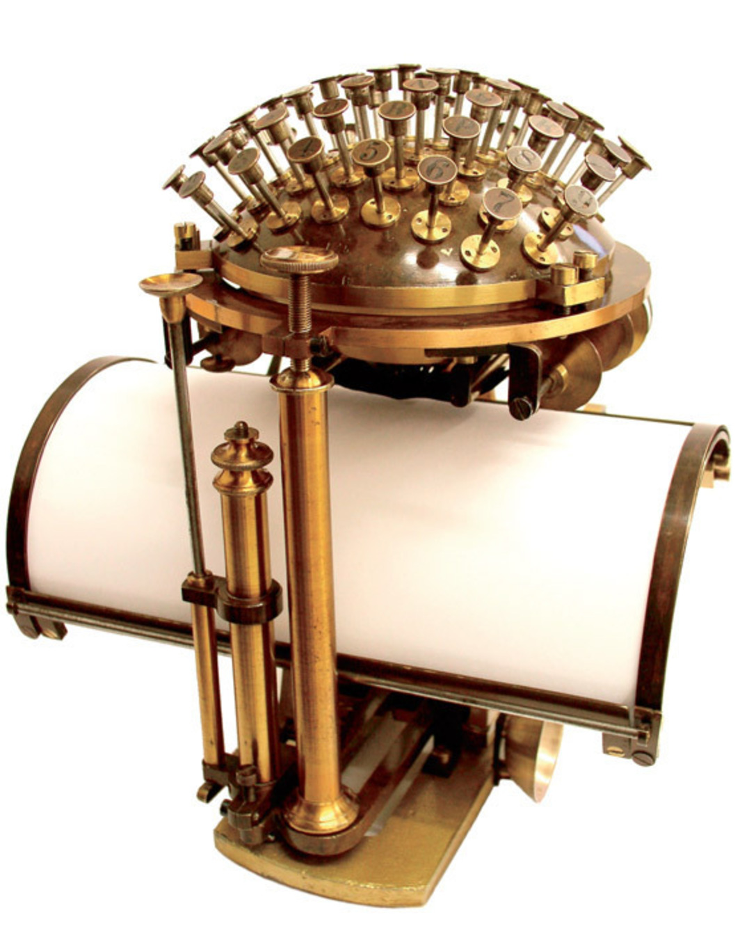 Friedrich Nietzsche's typewriter, an 1878 Malling- Hansen writing ball. Photo: Dieter Eberwein.