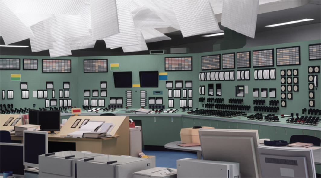 "Thomas Demand, Kontrollraum (Control Room), 2011, Diasec mounted C-print, 78 3/4 x 118 1/8""."