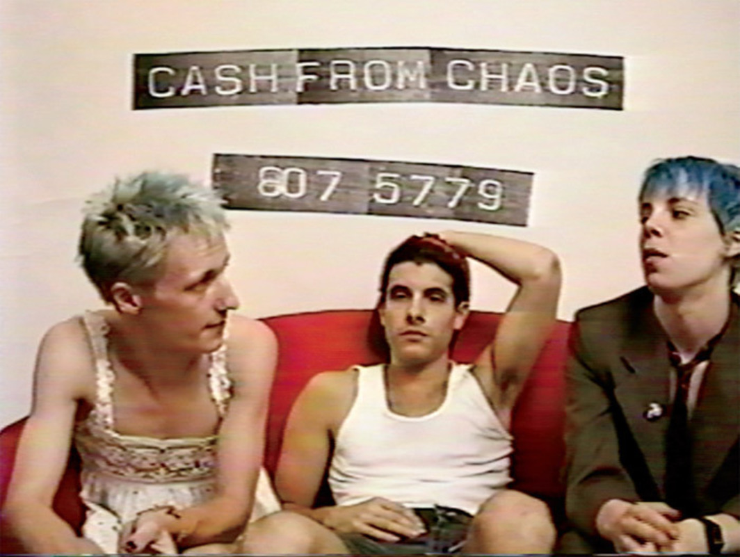 Alex Bag and Patterson Beckwith's Cash from Chaos/Unicorns & Rainbows, 1994–97, eight-channel video projection, 458 minutes.