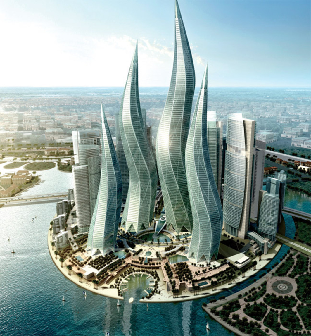 tvsdesign, Dubai Towers, 2008, Dubai. Rendering.