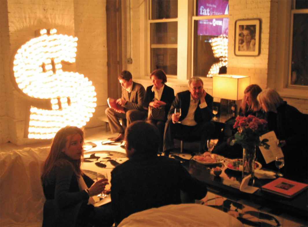 "Party photo that accompanied Rhonda Lieberman's ""Pad News,"" from Scene & Herd, Artforum.com, March 18, 2005."