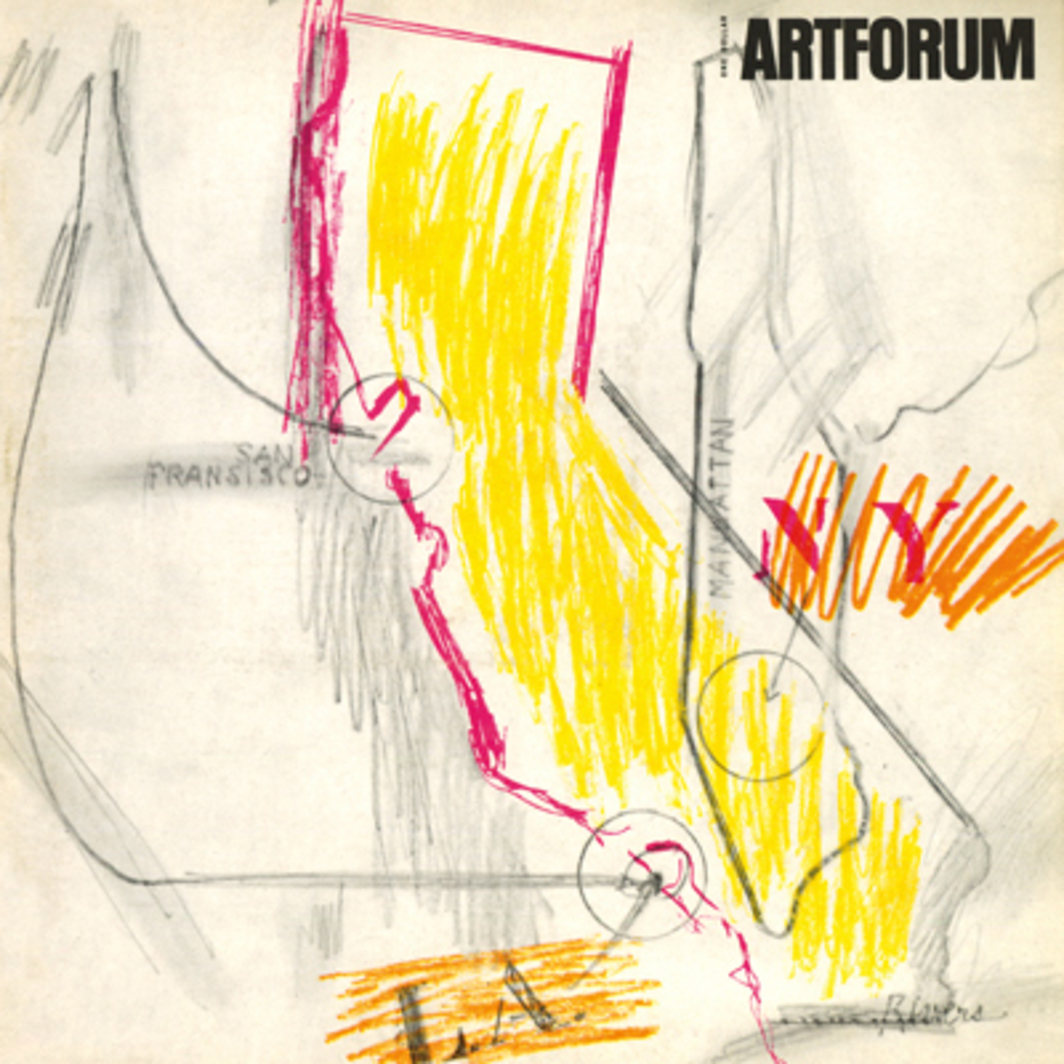 This month's cover has been designed for ARTFORUM by Larry Rivers
