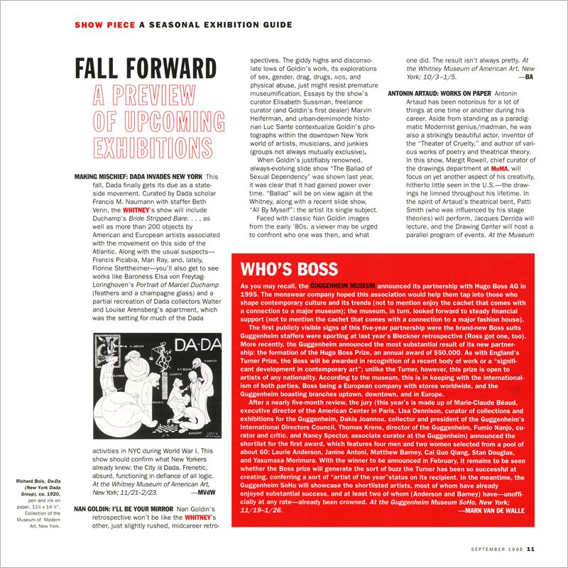 Artforum International - September 1996