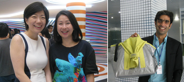 Left: Assistant director at Kukje Gallery Zoe Chun and curator Woo Hye-soo. Right: Writer Sohrab Mohebbi.