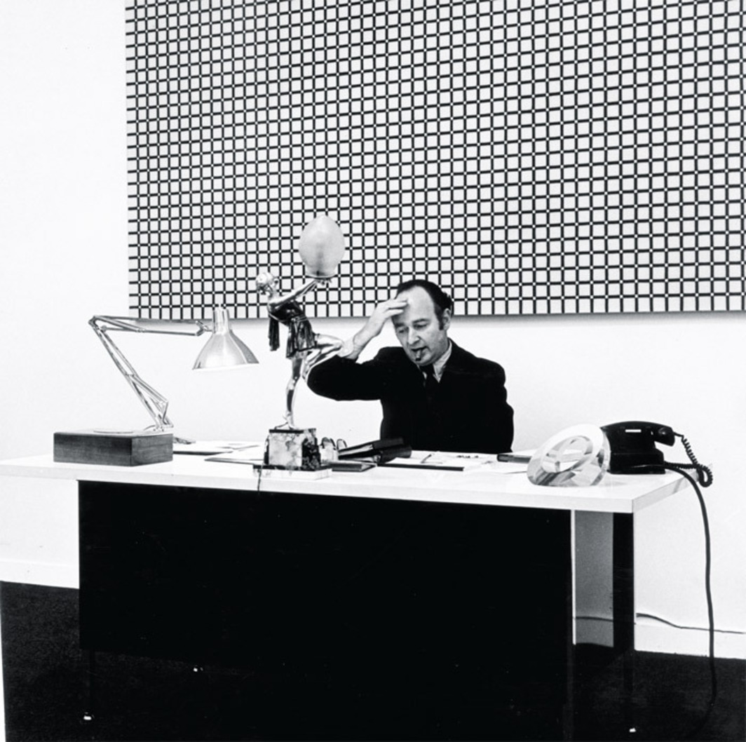 Ivan Karp at OK Harris, New York, ca. 1970.