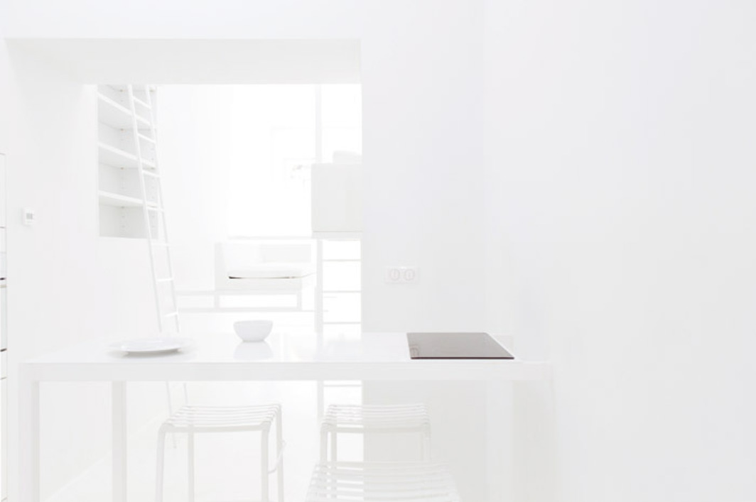 Philippe Rahm Architectes, Evaporated Rooms, 2011–12, Lyon, France. Apartment interior. Photo: Nicolas Pauly, 2012.