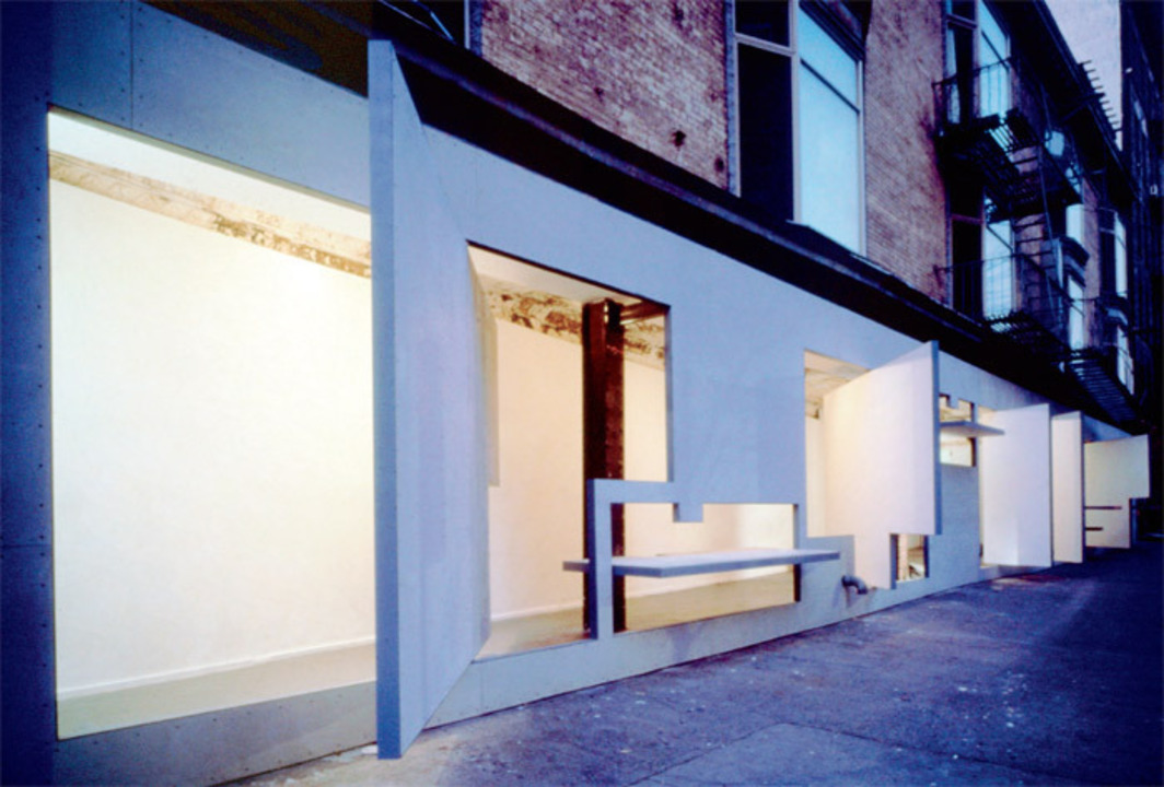 Vito Acconci and Steven Holl Architects, Storefront for Art and Architecture, 1992–93, New York. Photo: Paul Warchol.