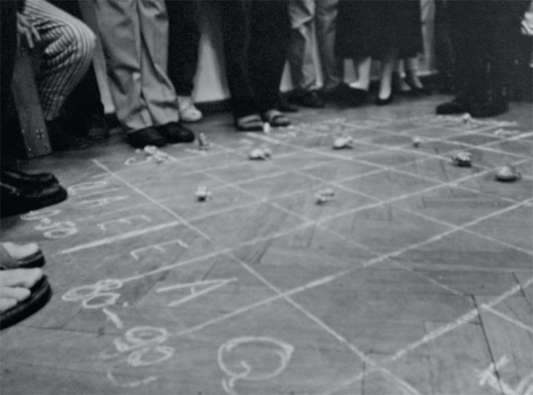 Benjamin Patterson, Pond, 1962. Performance view, Verona, Italy, 1994.