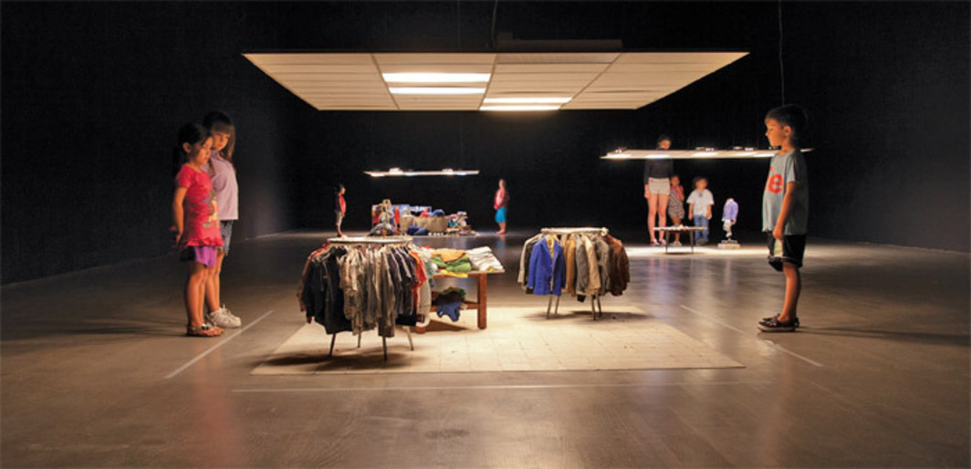 Charles LeDray, Mens Suits, 2006–, mixed media. Installation view.