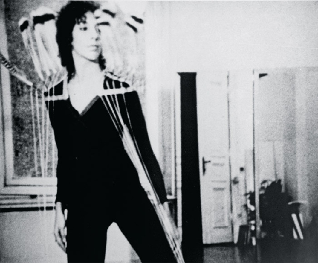 Rebecca Horn, Berlin Exercises, 1974–75, 16 mm, black-and-white, sound, 42 minutes.