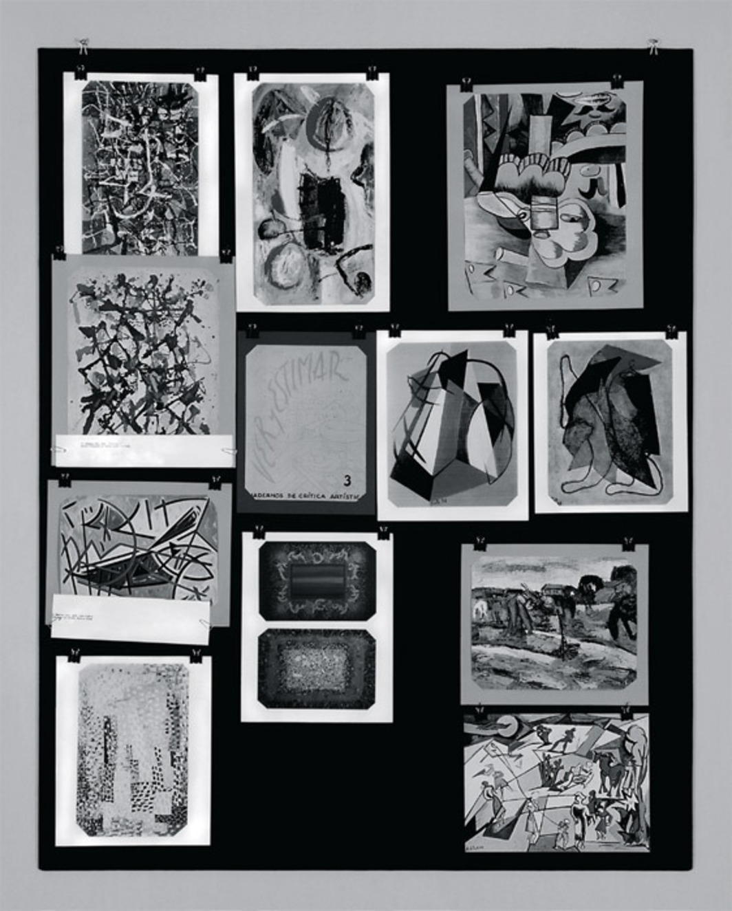 "Santiago Villanueva, Panel 1, 2012, ink-jet prints on illustration paper, 27 1/2 x 19 5/8""."