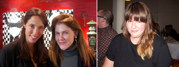 Left: Dealer Amalia Dayan with consultant Cary Leitzes. Right: Frieze Projects curator Sarah McCrory.