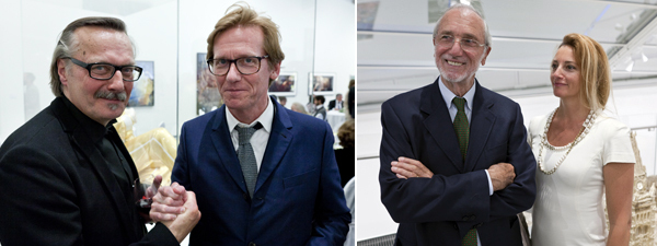 Left: Curator Sune Nordgren and Astrup Fearnley director Gunnar B. Kvaran. Right: Architect Renzo Piano and Milly Piano. (All photos: Jon Benjamin Tallerås)