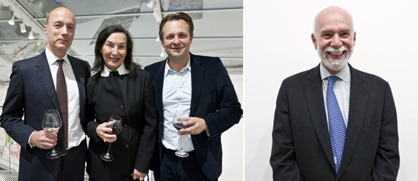 Left: Dealers Per Skarstedt and Barbara Gladstone with Moderna Museet director Daniel Birnbaum. Right: The Guggenheim Foundation's Richard Armstrong.