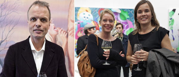 Left: Collector and publisher Erling Kagge. Right: Helga Marie Nordby, curator and director of Tromsø Academy of Contemporary Art and Creative Writing, and Caroline Ugelstad, chief curator at the Henie Onstad Art Centre.