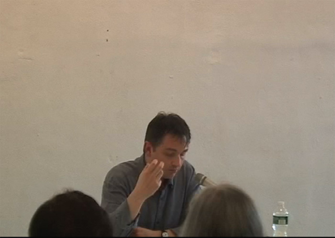 "Quentin Meillassoux presenting The Number and the Siren: A Decipherment of Mallarmé's ""Coup de dés,"" Sequence Press, New York, May 6, 2012."