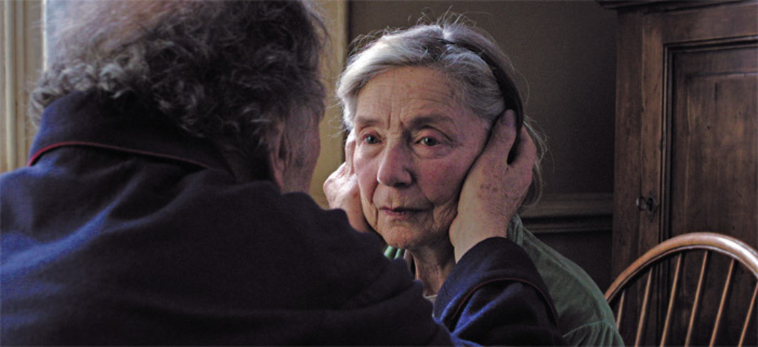 Michael Haneke, Amour, 2012, 35 mm, color, sound, 127 minutes. Georges (Jean-Louis Trintignant) and Anne (Emmanuelle Riva).