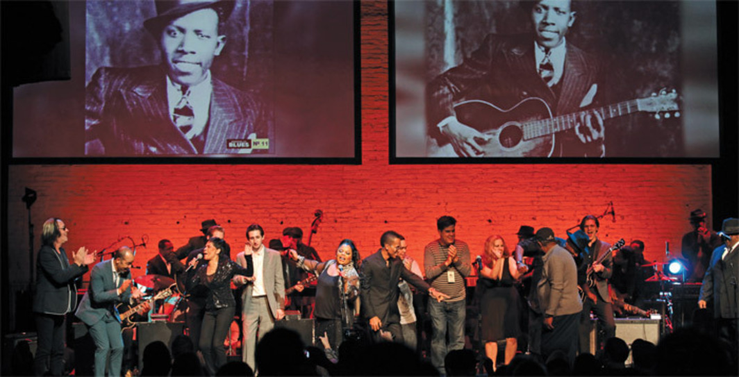 """Robert Johnson at 100"" tribute concert, Apollo Theater, New York, March 6, 2012. Photo: Chang W. Lee/New York Times/Redux."