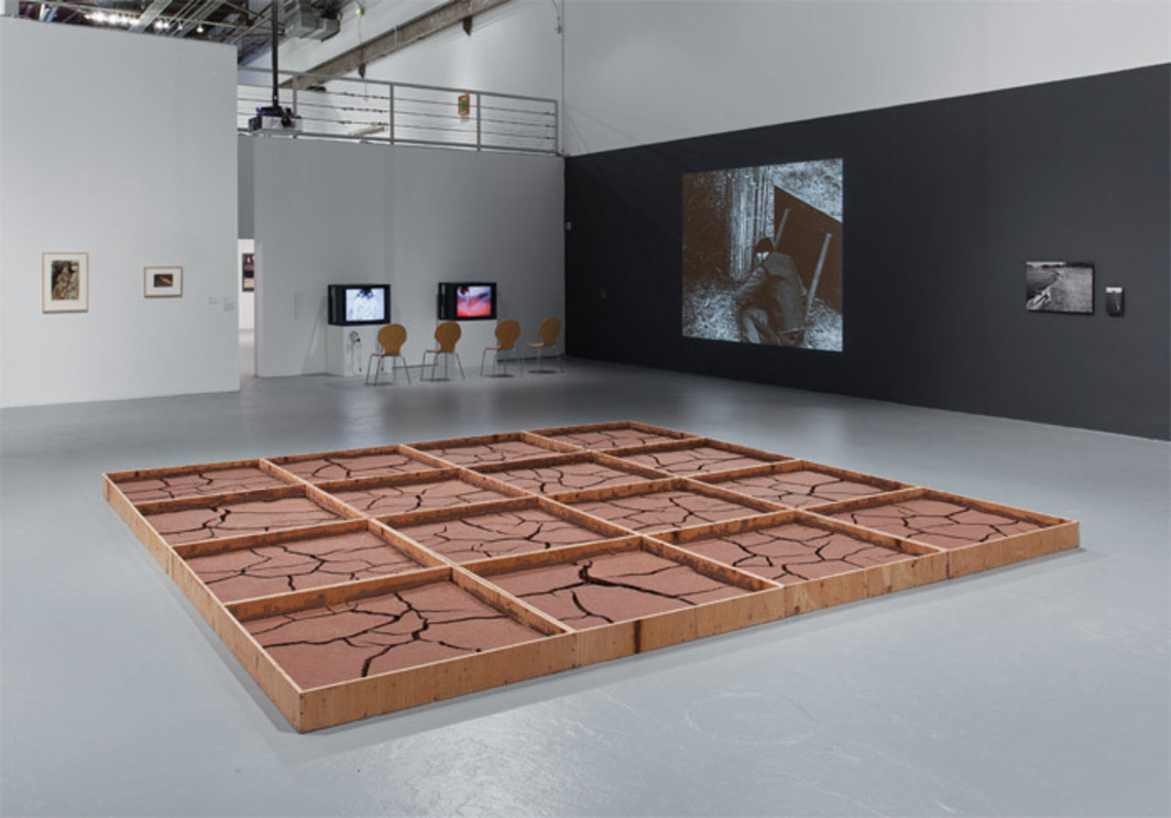 "View of ""Ends of the Earth: Land Art to 1974,"" 2012, Museum of Contemporary Art, Los Angeles. Foreground: Alice Aycock, Clay #2, 1971/2012. Photo: Brian Forrest."