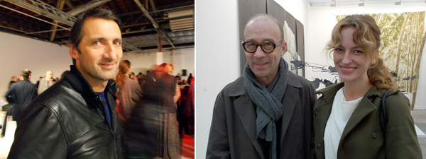 Left: Artist Xavier Veilhan. Right: Artist Bernard Frieze and curator Sinziana Ravini at FIAC.
