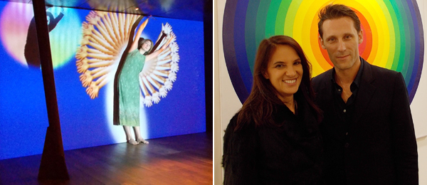 Left: Artist Shana Moulton. Right: Bugada Cargnel's Claudia Cargnel and Frederic Bugada at FIAC.