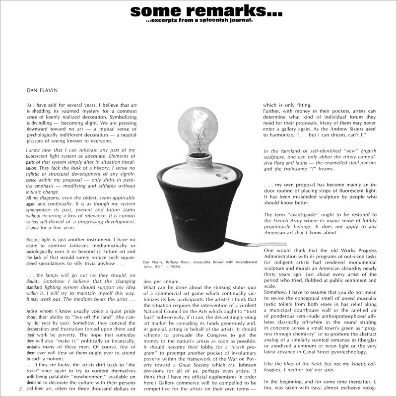 Some Remarks - Artforum International