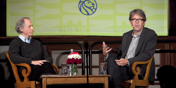 Don DeLillo and Jonathan Franzen at the New York Public Library. (All photos: Jori Klein/The New York Public Library)
