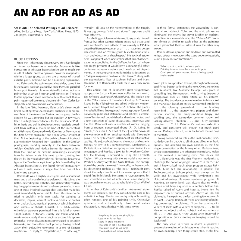 An Ad for Ad as Ad