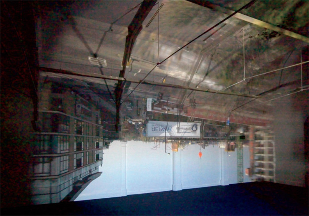 Zoe Leonard, Arkwright Road, 2012, lens, darkened room. Installation view, Camden Arts Centre, London.