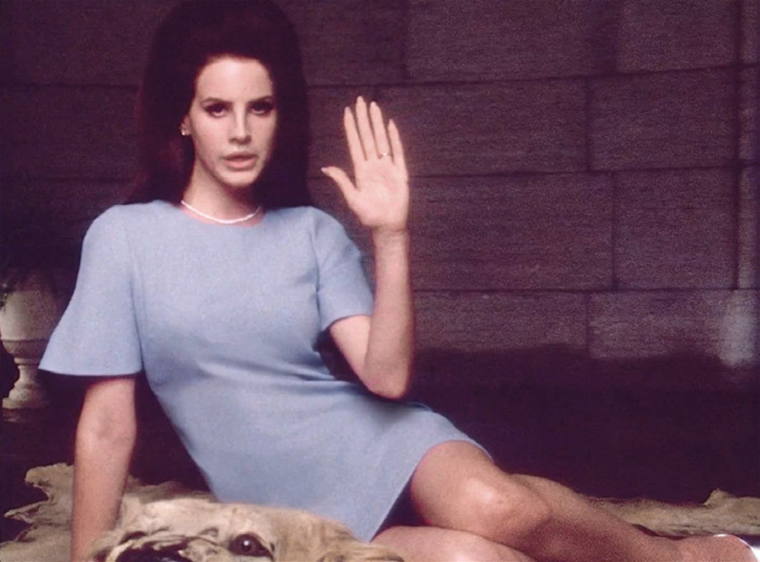 Still from Lana Del Rey's 2012 video National Anthem, directed by Anthony Mandler.