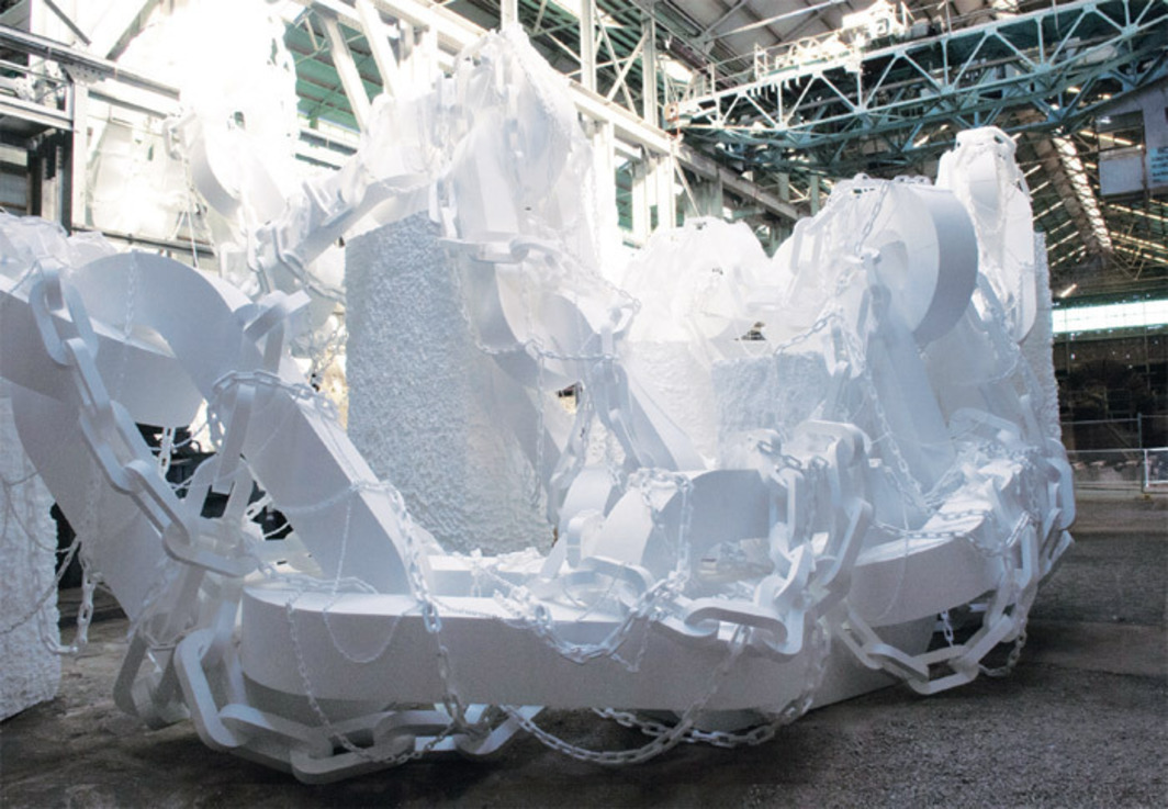 Peter Robinson, Gravitas Lite, 2012, polystyrene, dimensions variable. From the 18th Biennale of Sydney.