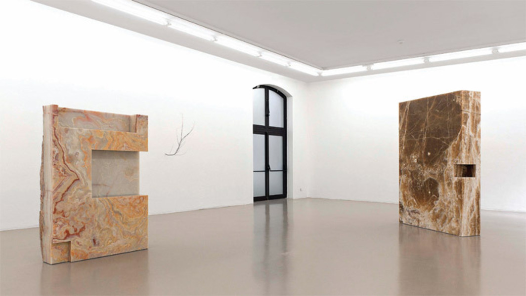 View of Bojan Šarčević, 2012. From left: She, 2010; Presence at Night, 2010; He, 2011.