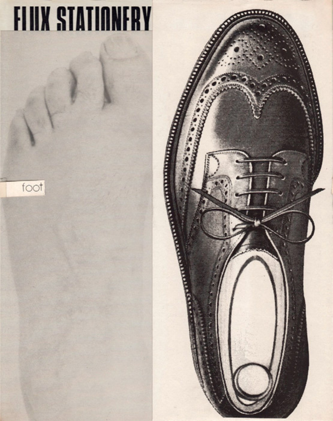 "George Maciunas, Foot in Shoe, 1973–77, offset print on paper, 10 1/2 x 8 1/2"". From ""Wooster Enterprises."""