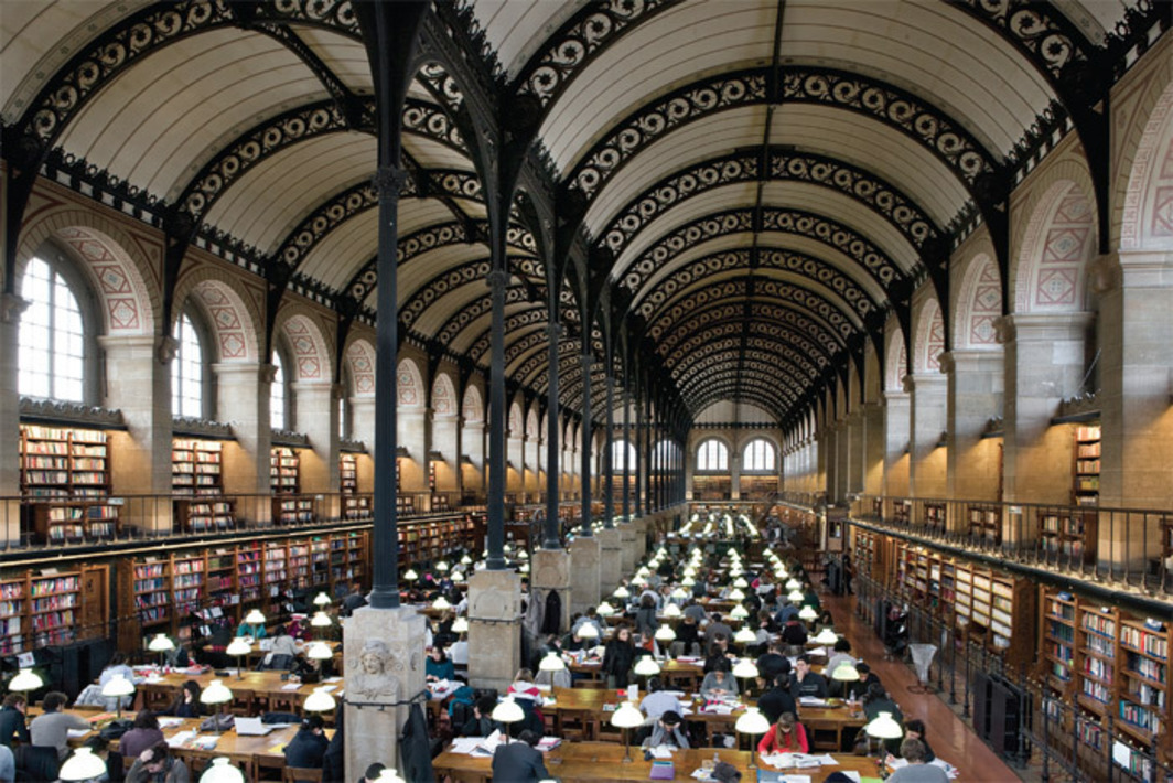 Henri Labrouste, Bibliothèque Sainte-Geneviève, 1838–50, Paris. Photo: Michel Nguyen.