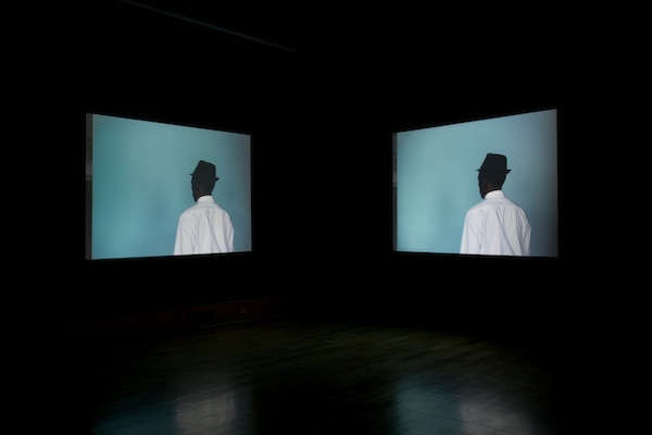 Leslie Hewitt in collaboration with Bradford Young, Untitled (Structures), 2012, 35 mm film transferred to HD video, dual-channel video installation, 16 minutes 47 seconds. (Photo: Adam Reich)