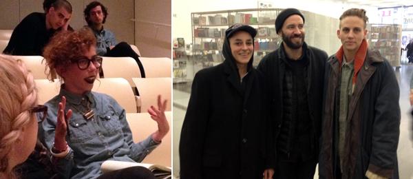 Left Poet Ariana Reines Right Artists Katie Hubbard Nik Gambaroff And AK Burns