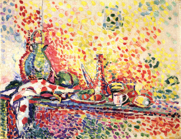 "Henri Matisse, Still Life with Purro II, 1904–05, oil on canvas, 11 x 14"". © 2012 Succession H. Matisse / Artists Rights Society (ARS), New York."