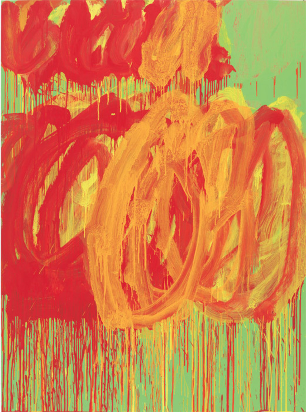 "Cy Twombly, Untitled (Camino Real), 2011, acrylic on plywood, 99 3/8 x 72 7/8""."