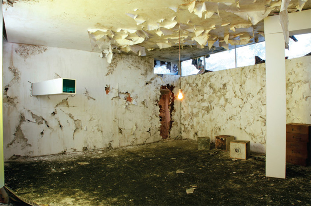 "View of Jonah Freeman and Justin Lowe, ""Bright White Underground,"" 2010."
