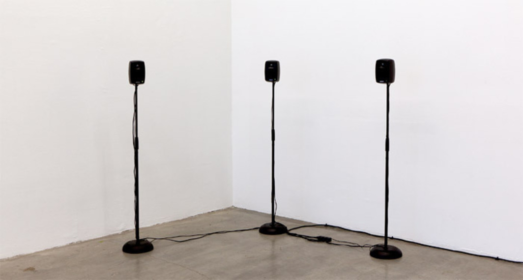 Hannah Weinberger, Le Moi Du Toi, 2012, speakers, amplifiers, with sound, dimensions variable.