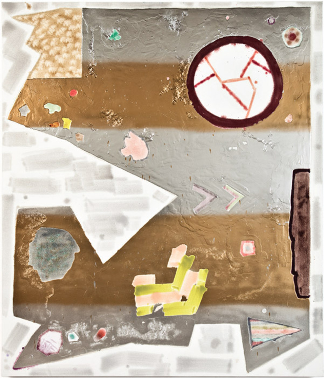 "Rebecca Morris, Untitled (#01–10), 2010, oil and spray paint on canvas, 84 x 72""."