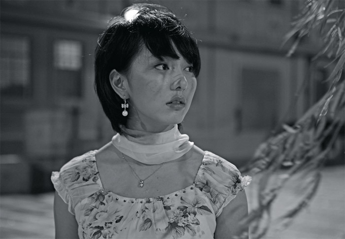 Yang Fudong, Fifth Night, 2010, still from a seven-channel black-and-white HD video transferred from 35 mm, 10 minutes 37 seconds.