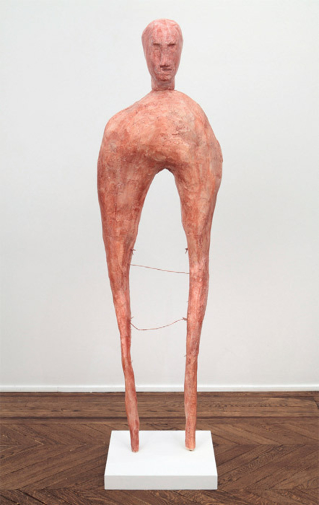 "Enrico David, Light Days, 2012, polystyrene, polyurethane foam, copper, tissue paper, watercolor, bone, 67 x 80 3/4 x 15 3/4"". Michael Werner Gallery."