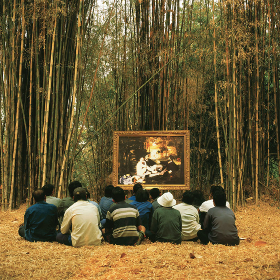 Araya Rasdjarmrearnsook, Two Planets: Manet's Luncheon on the Grass and the Thai Villagers, 2008, still from a color video, 16 minutes.