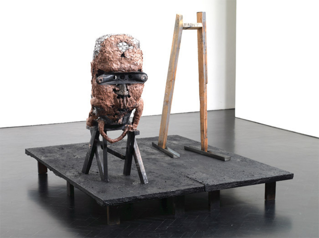 "Huma Bhabha, Bumps in the Road, 2008, mixed media, 60 1/2 x 66 1/4 x 80 1/4""."