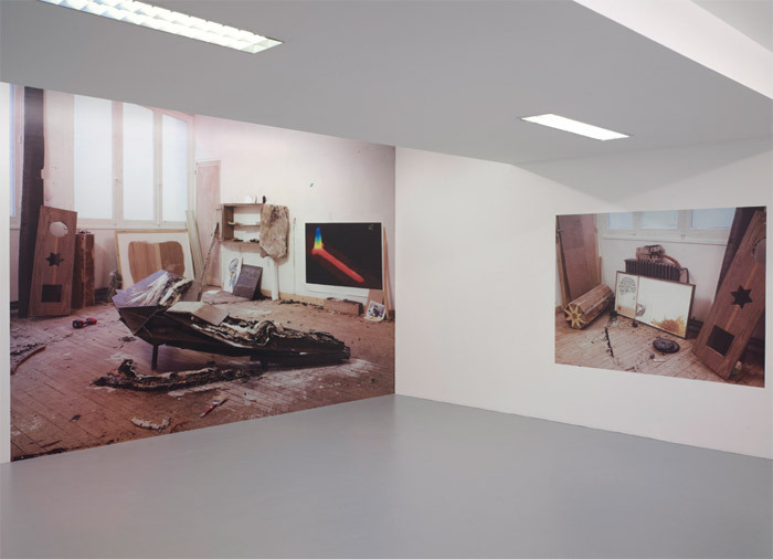 "View of ""Emmanuelle Lainé,"" 2011. From left: Untitled, 2010; Untitled, 2010."